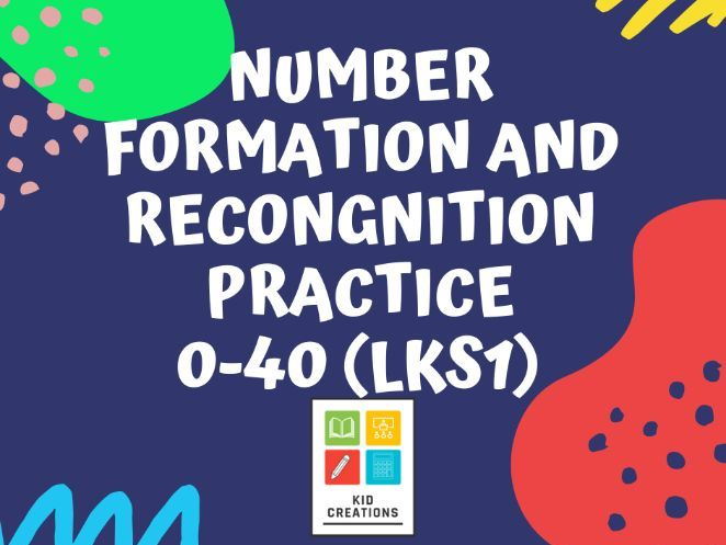 0- 40 Number Formation and Recognition Practice Sheet