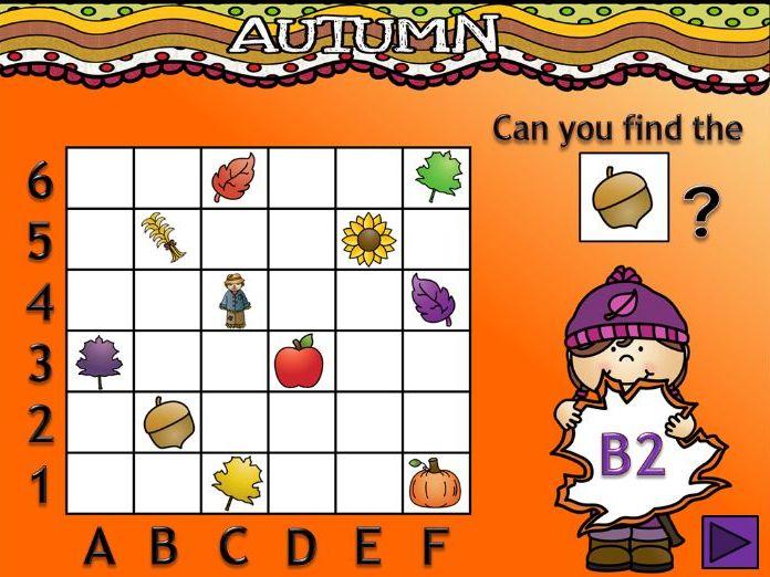 Autumn-themed Coordinate Activity