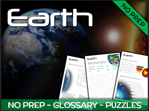Earth - Puzzles & Glossary
