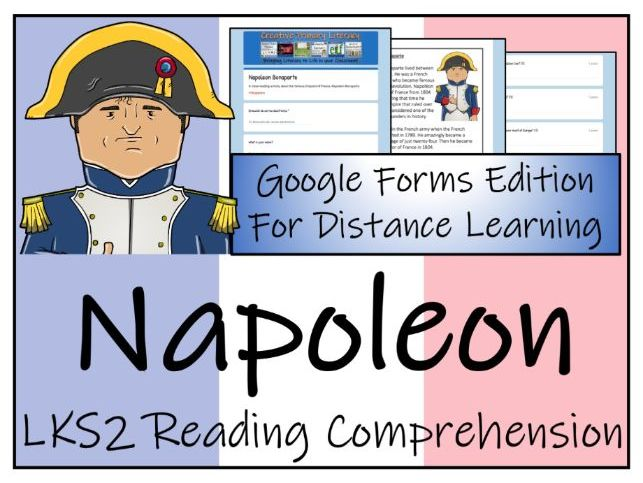 LKS2 Napoleon Bonaparte Reading Comprehension Activity   Digital & Print