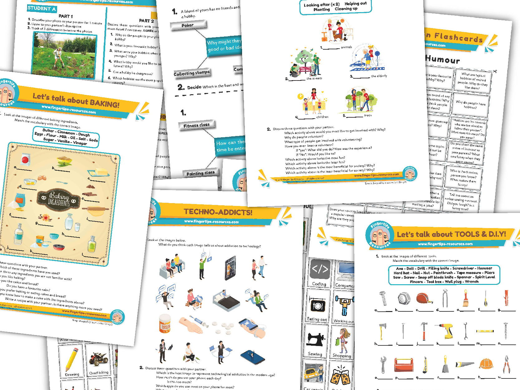 Hobbies & Free Time Unit - ESL Activity Bundle