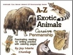 """Exotic Animals"" Cursive Penmanship A-Z"