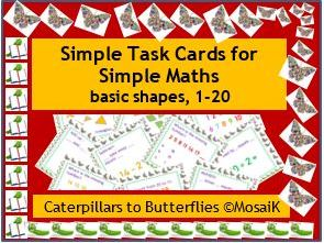 English numbers 1-20, 54 task cards