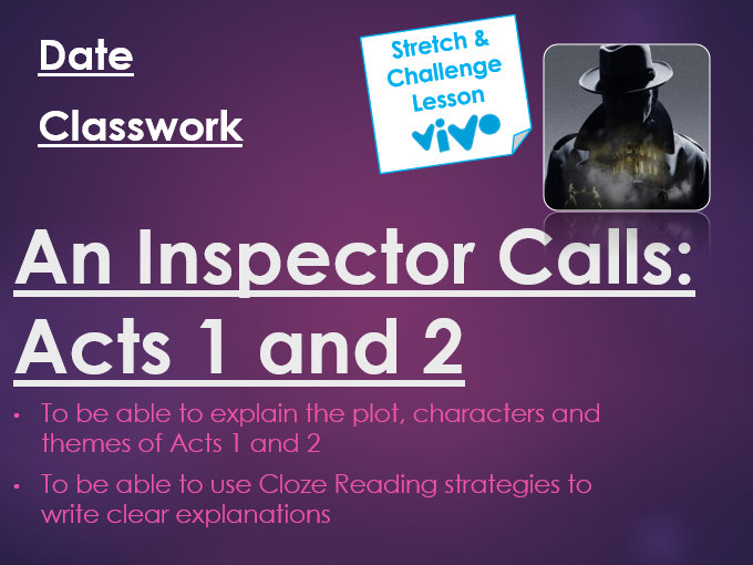 An Inspector Calls Acts 1 and 2