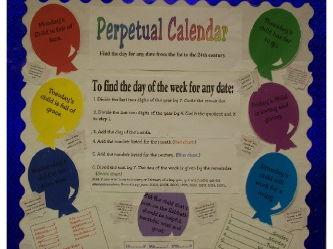 Perpetual Calendar-bulletin board