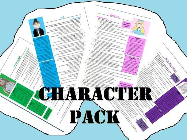 Great Expectations Character Revision Guide Collection (Grade 9 - 26 pages)