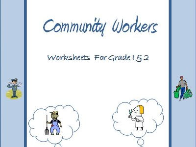 Community Workers / Helpers - Worksheets for Grade 1 & 2
