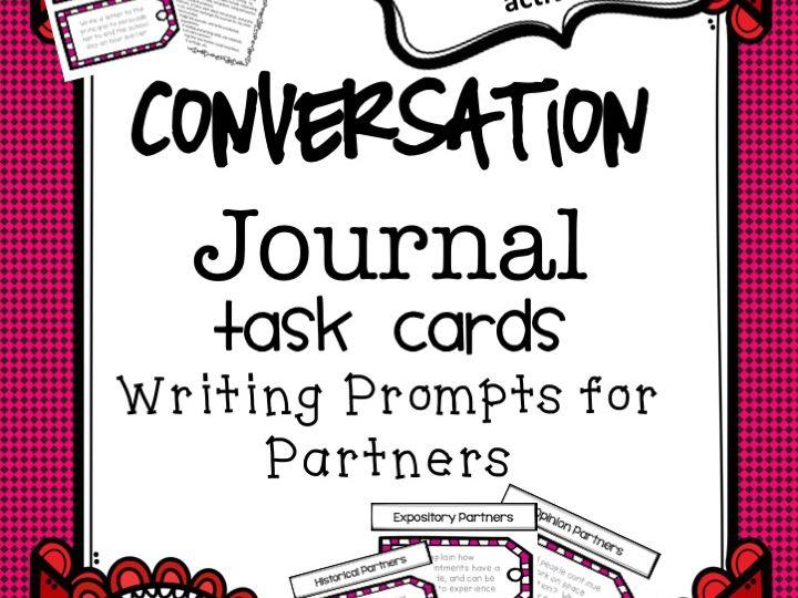 Literacy - Conversation Journal Task Cards