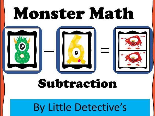 Subtraction Monster Math Mats