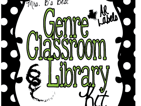 Black, White and Lime Polka Dot Genre and AR Classroom Library Kit-Now Editable