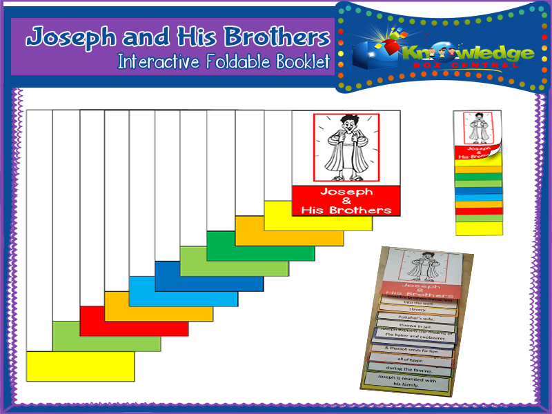 Joseph & His Brothers Interactive Foldable Booklet