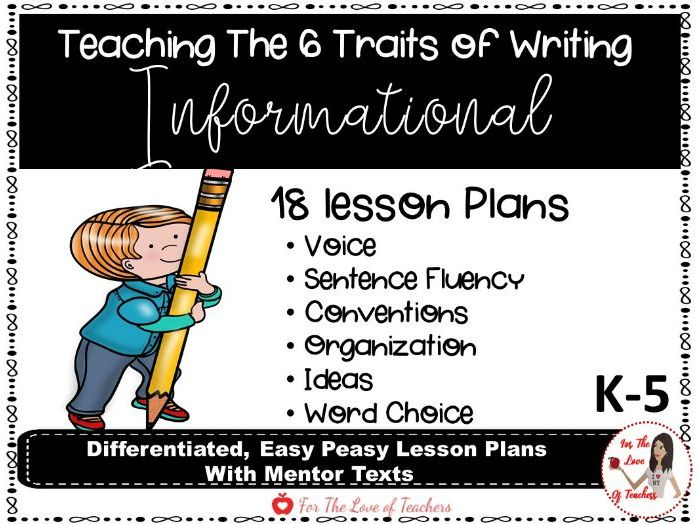 Six Traits of Writing Lesson Plans - Informational