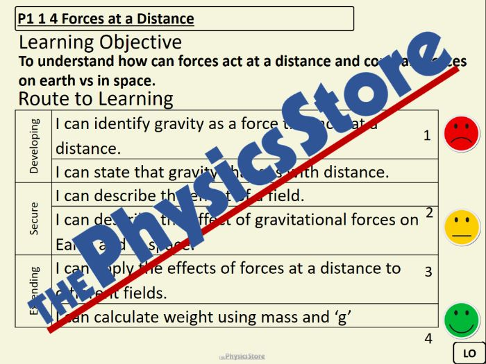 KS3 Physics P1 1 4 Forces at a Distance PowerPoint Presentation