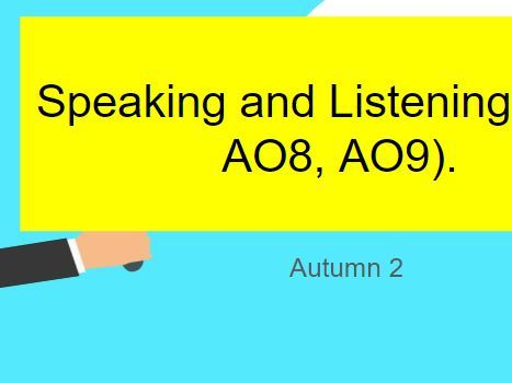 Edexcel Entry Level English Speaking and Listening (AO7, AO8, AO9) Scheme of Work & Resources