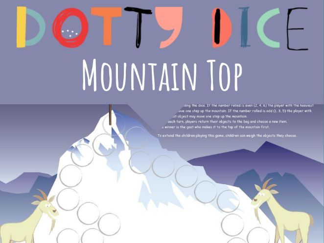 Measurement Board Game - Mountain Top - Compare the Weight