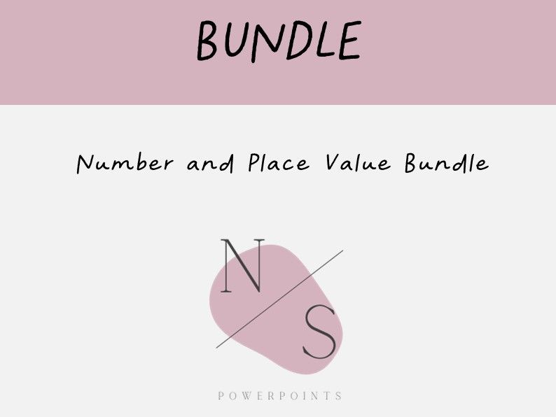 BUNDLE | Number and Place Value Lesson Presentations