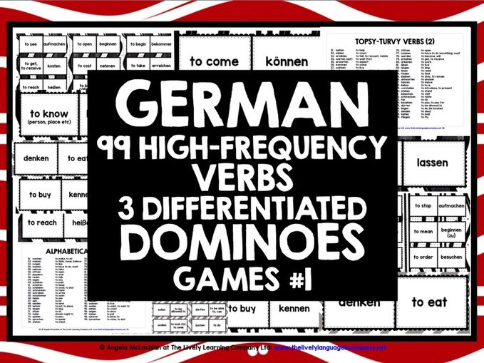 GERMAN VERBS DOMINOES GAMES 1