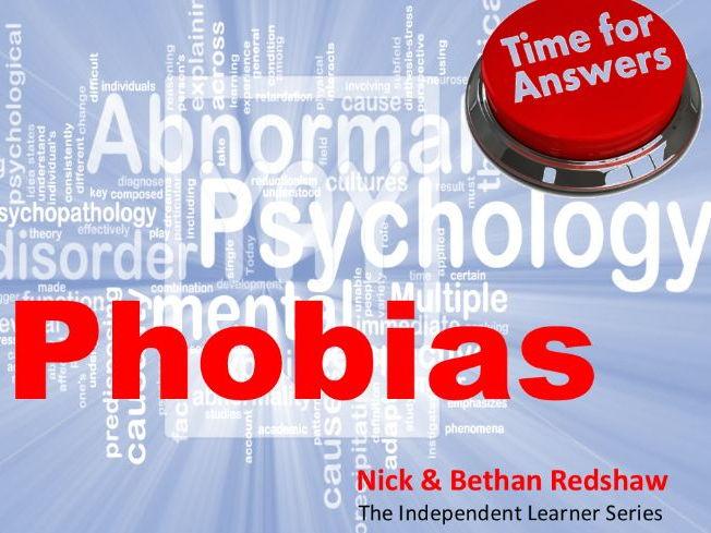 Workbook Answers Psychopathology - Phobias