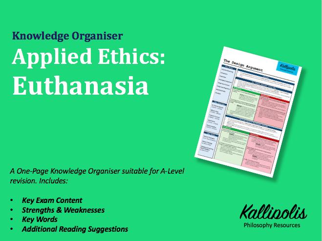 Medical Ethics - Euthanasia - Knowledge Organiser