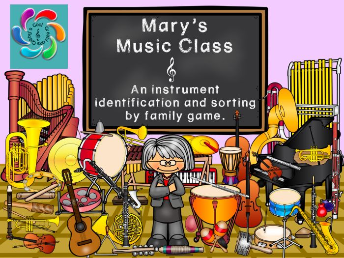 Mary's Music Class-an Interactive Music Game focusing on Instrument identification and families