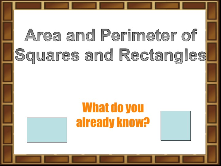 Interactive Powerpoint on Area and Perimeter