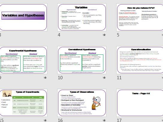 Revision for RESEARCH METHODS presentation