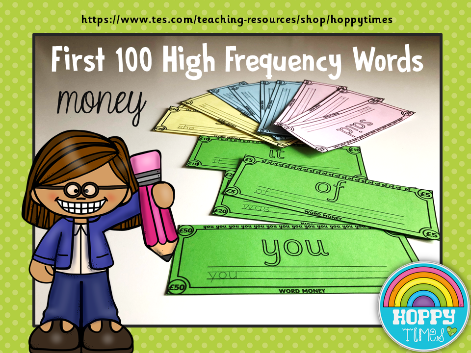 100 High Frequency Words Money
