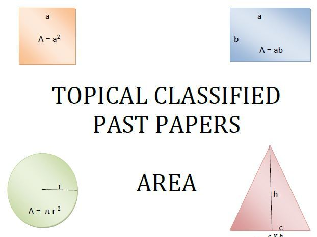Cambridge Lower Secondary Checkpoint Topical Classified Past Papers-Mathematics-GEOMETRY-Area