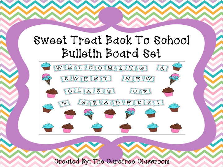 Bulletin Board Set: Sweet Treat  Beginning of the Year Set