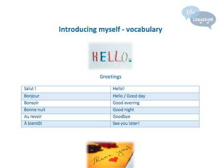 Key Stage 3 French - Introducing myself - Vocabulary and grammar