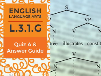 L.3.1.G - Quiz A and Answer Guide