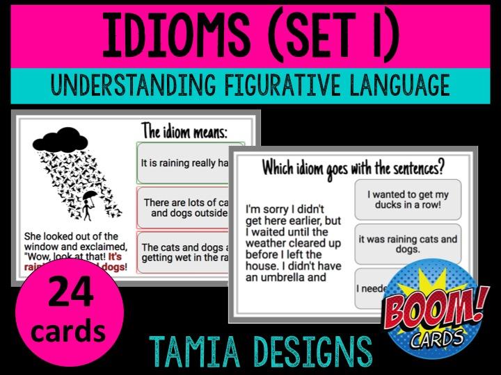 Understanding idioms in American English set 1