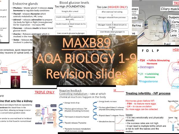 GCSE 9-1 Revision Biology AQA  Unit 5 Revision Slides