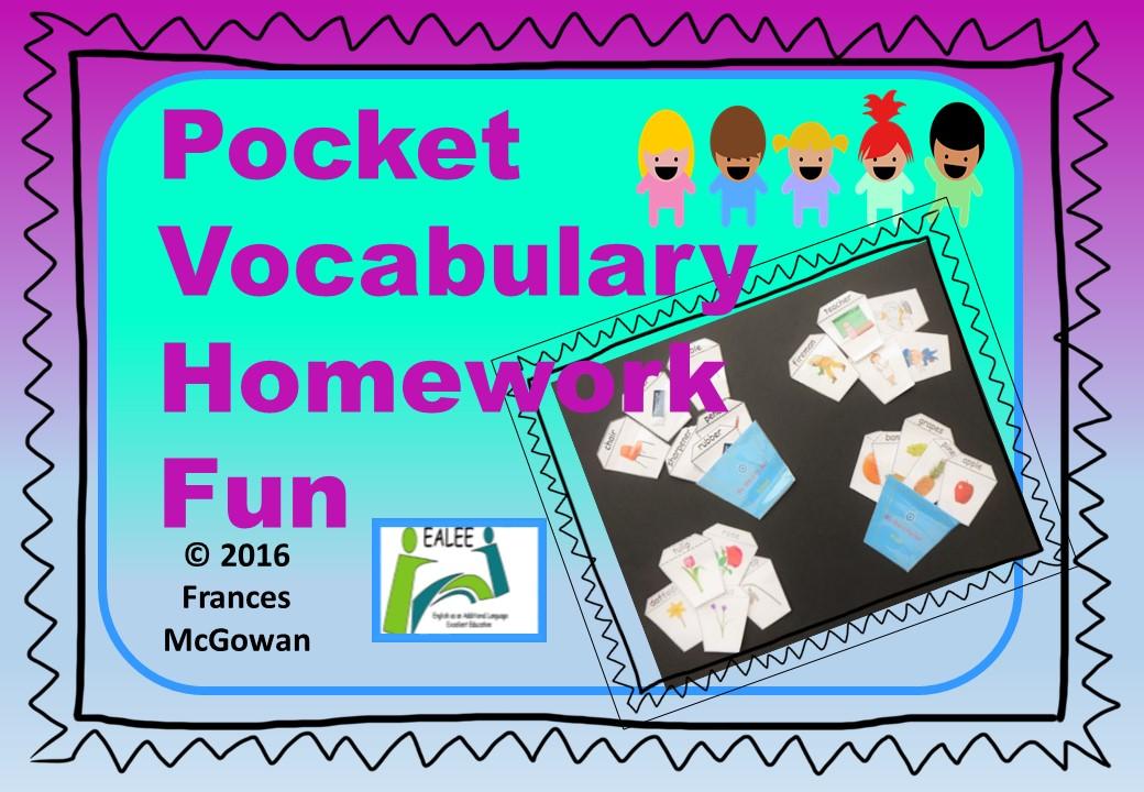 Pocket Vocabulary Homework Fun for EAL / ESL