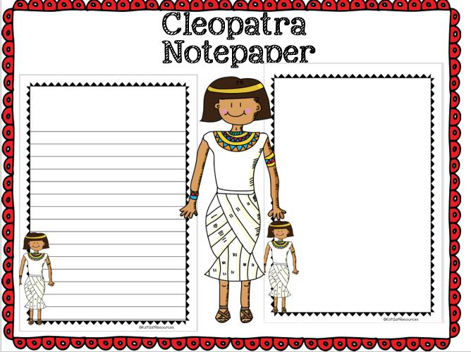 Cleopatra Notepaper