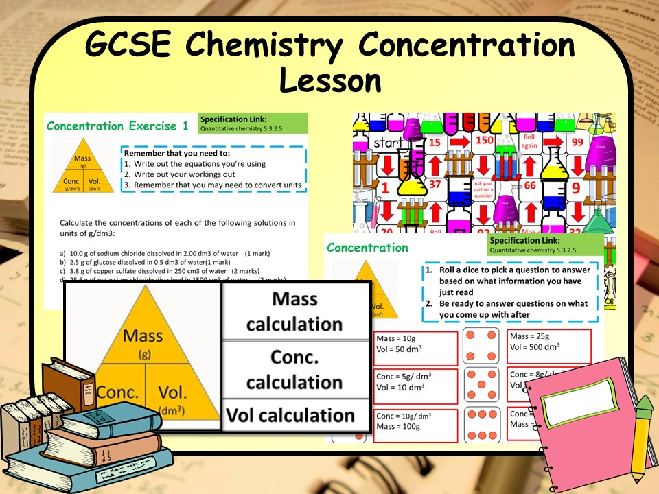 New AQA KS4 GCSE Chemistry (Science) Concentration Lesson