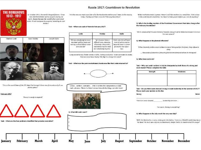 Russia 1917: Countdown to Revolution - Worksheet to support the BBC Documentary