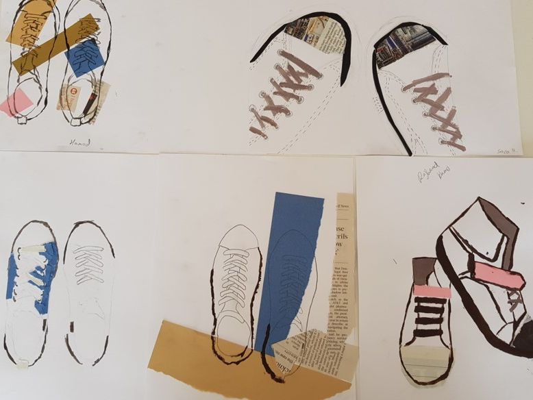 IB MYP Visual Arts Shoe Project Part 1