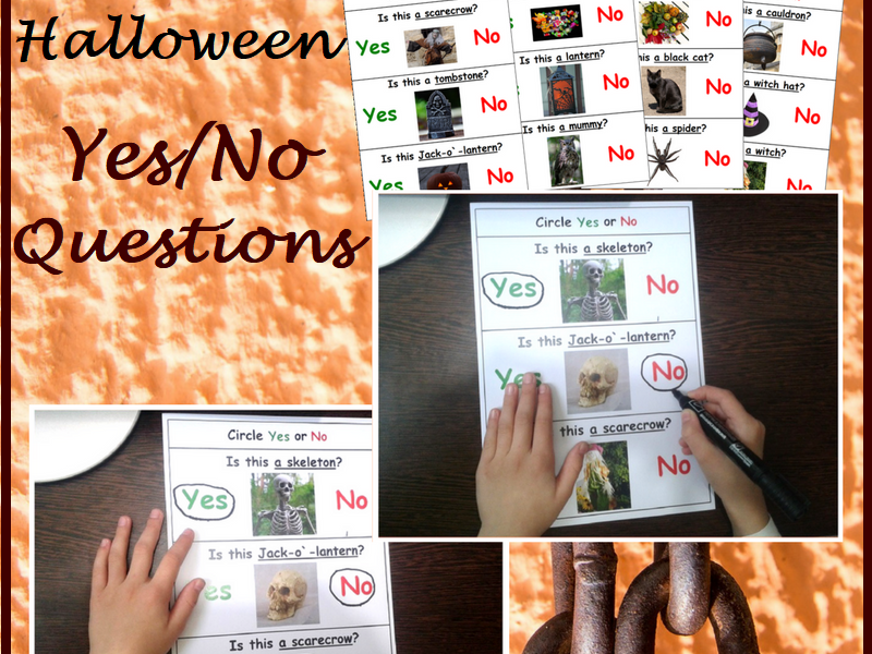 Yes No Questions for Halloween Worksheets for Autism and Special Education