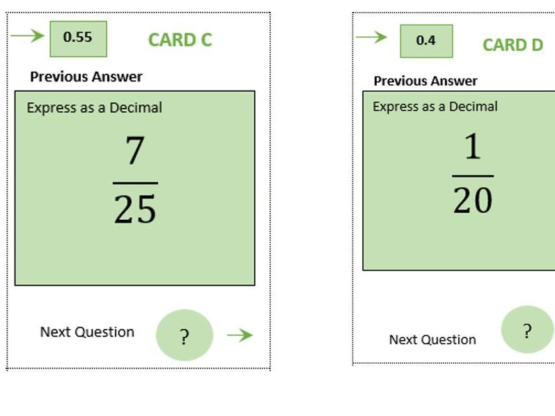 GCSE Foundation/Functional Skills Maths- Fractions to Decimals Treasure Hunt