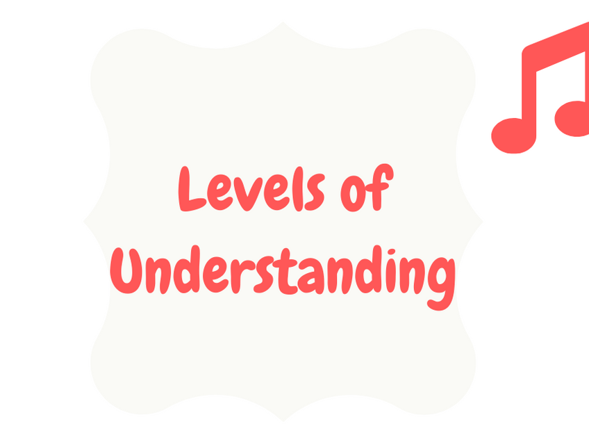 Levels of Understanding (Performing)