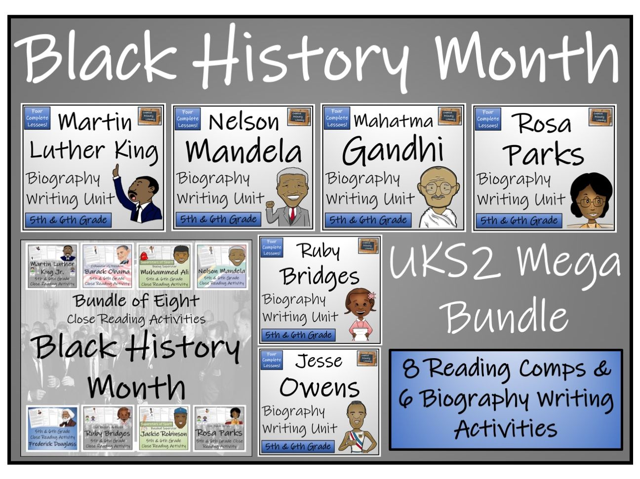 UKS2 Black History Month Reading Comprehension & Writing Bundle