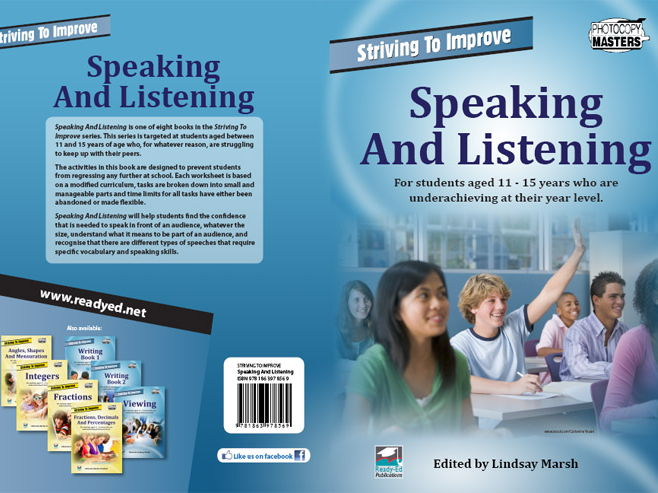 Striving to Improve Series: Speaking and Listening (Australian E-book for students at risk)