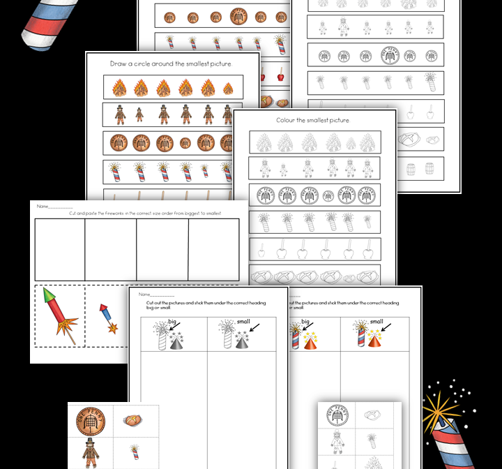 Bonfire Night Big And Small Maths Activities