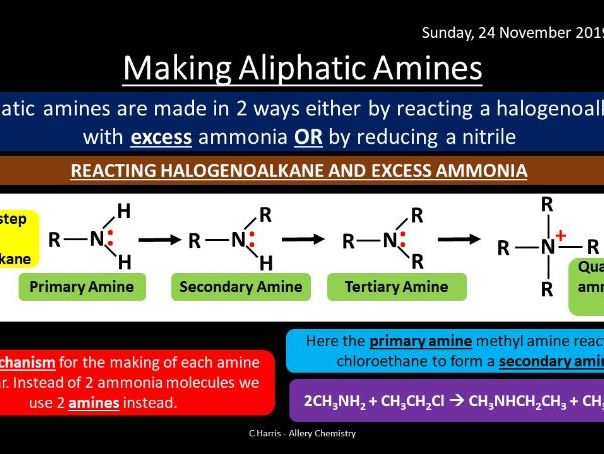 NEW AQA Yr2 Amines Revision