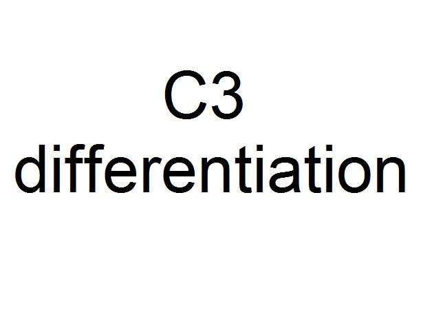C3 differentiation