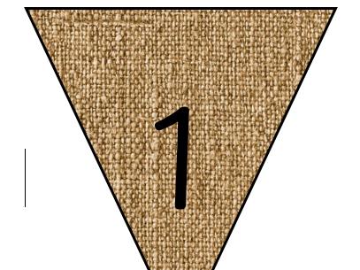 Reggio inspired numbers on Hessian bunting