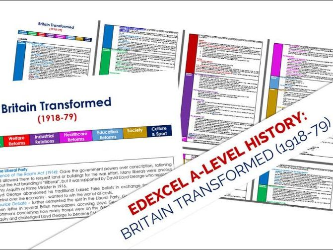 Edexcel History A-level: Britain transformed, 1918 – 1997