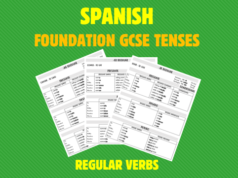 Spanish GSCE Foundation Tense Revision