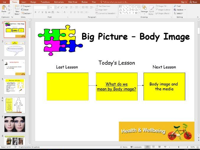 Health and Wellbeing - Body image